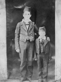 Two boys from the Royal Hospital School. Reproduction ID H0795 Date about 1850
